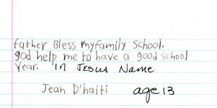 Prayer Letter - Jean